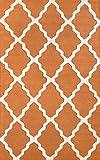 nuLOOM MTVS27U Varanas Collection Marrakech Trellis Contemporary Transitional Hand Made Area Rug, 5-Feet by 8-Feet, Pumpkin