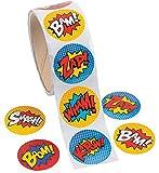 Fun Express Superhero Sticker Roll - 100 pieces...