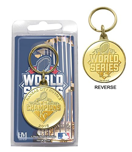 MLB Kansas City Royals 2015 World Series Champions Bronze Coin Keychain (Ring Champion Mlb compare prices)