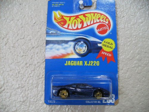 Hot Wheels Jaguar Xj220 All Blue Card # 203 Dark Blue w/ Gold Ultra Hots - 1