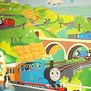 Thomas tank train engine prepasted wallpaper for Amazon mural wallpaper