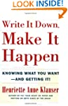 Write It Down Make It Happen: Knowing...