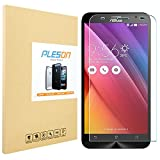 ZenFone 2 Screen Protector, PLESON® ASUS ZenFone 2 Tempered Glass Screen Protector, 0.3mm/ 2.5D/ 9H/ Bubble-Free/ Shatterproof/Anti-fingerprint Glass Screen Protector for ZenFone 2 [Lifetime Warranty]