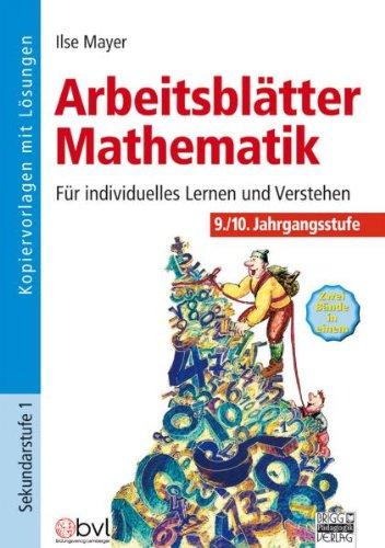 Download Arbeitsblätter Mathematik: 9./10. Jahrgangsstufe ...