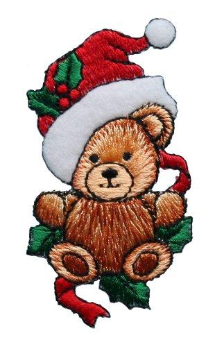 ID #8030 Teddy Bear Christmas Xmas Holiday Embroidered
