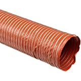 Heat-Flex BDS Fiberglass Duct Hose, Iron Oxide Red, For Use With Air, Fume