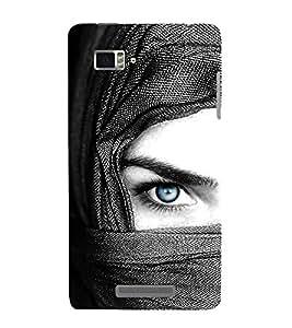 Vizagbeats Blue Eye Lady Back Case Cover for Lenovo Vibe Z K910
