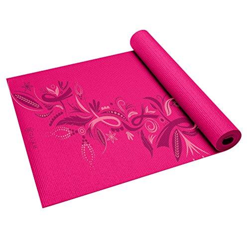 Gaiam Print Yoga Mat, Forever Pink Ribbon III, 3mm