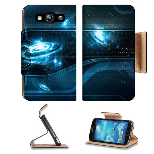 Pattern Blue Glow Samsung Galaxy S3 I9300 Flip Cover Case With Card Holder Customized Made To Order Support Ready Premium Deluxe Pu Leather 5 Inch (132Mm) X 2 11/16 Inch (68Mm) X 9/16 Inch (14Mm) Liil S Iii S 3 Professional Cases Accessories Open Camera H