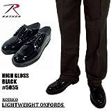 ROTHCO【ロスコ】エナメルワークシューズ黒#5055/BlackLightweightOxfordsHighGlossブラックライトウェイトオクスフォードハイグロス (27cm)