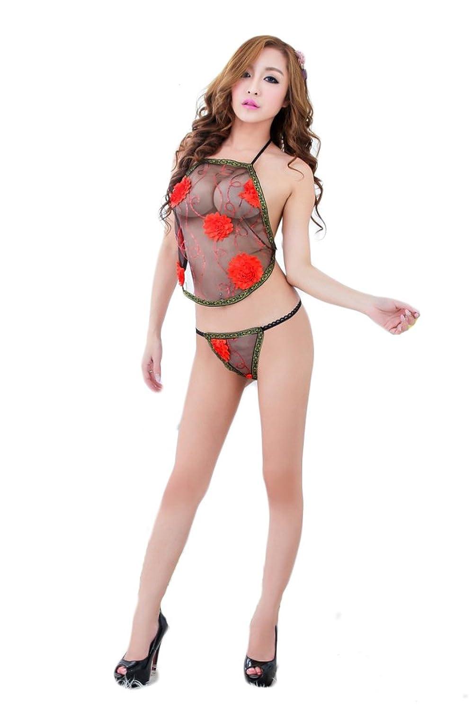 TM Women's Temptation Sexy lingerie see-through Stomachers Nightwear Uniform