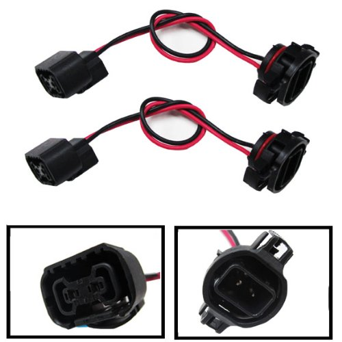 iJDMTOY (2) 5202 H16 Extension Wire Harness Sockets For Headlights, Fog Lights Retrofit Work Use (Cree Wiring Harness compare prices)
