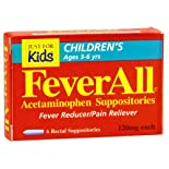 FeverAll Just for Kids Acetaminophen Suppositories, 120 mg, 6 ct.