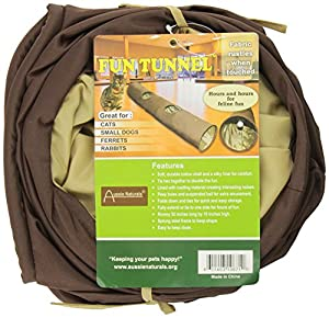 ABO Gear Fun Run Tunnel for Cats and Small Animals, Brown