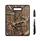 Mossy Oak Image Board And Paring Knife, 11 X 14/3.5