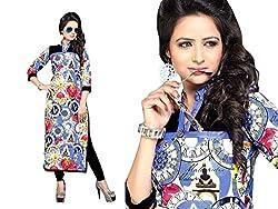 RR Fashion Women's Cotton KURTI (RRF3017_MULTICOLOUR)