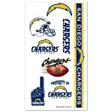 San Diego Chargers Temporary Body Tattoos 3 Pack
