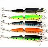 VERY100 Lot5Pcs Crankbait Crankbait Fishing Baits Lures Minnow Hooks 9.6g 10.5cm / 4.13