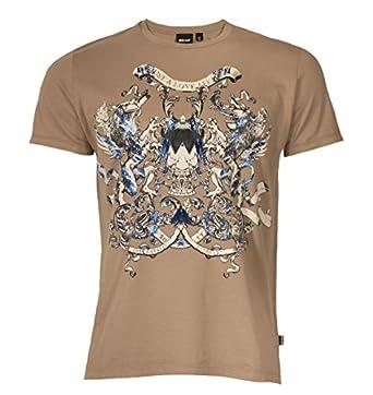 Roberto Cavalli T shirt à col rond et motif imprimé métallique