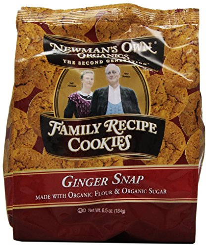 Newman'S Own Organics Family Recipe Cookies, Ginger Snap, 6.5-Ounce Bags (Pack Of 6)