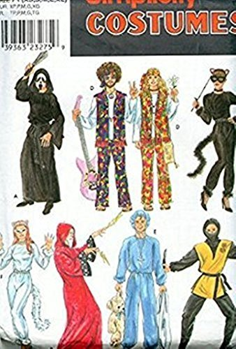 Simplicity Costumes 8871 Sizes 30-48 Hippies, Scream, Cats, Ninja, Wizard - 1