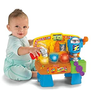 Amazon.com: Fisher-Price Laugh & Learn Learning Workbench: Toys & Games