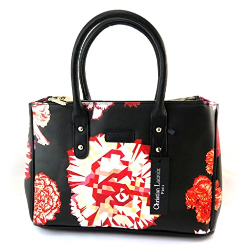 Borsa 'french touch' 'Christian Lacroix'rosso nero.