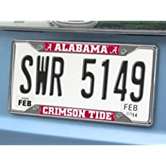 Buy FANMATS NCAA University of Alabama Crimson Tide Chrome License Plate Frame by Fanmats