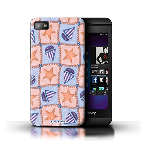 stuff4-hulle-hulle-fur-blackberry-z10-pfirsich-lila-muster-boote-und-sterne-kollektion-von-penny-lan