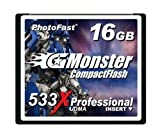 PhotoFast G-Monster 533倍速 16GBコンパクトフラッシュカード読込80MB/s 書込40MB/s GM-533CF16ML