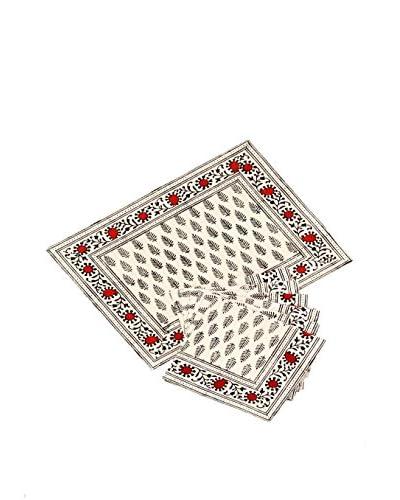 Mela Artisans 12-Piece Nafisa Placemat & Napkin Set
