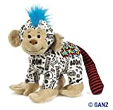 Webkinz Rockerz Monkey 8.5 Plush