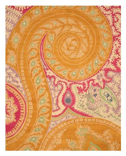 EORC IE8780B Hand Tufted Wool Paisley Rug 4-Feet By 6-Feet