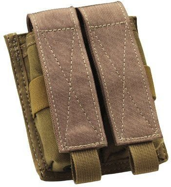 Uncle Mike'S Molle Compatable Double Pistol Mag Pouch, Od Green