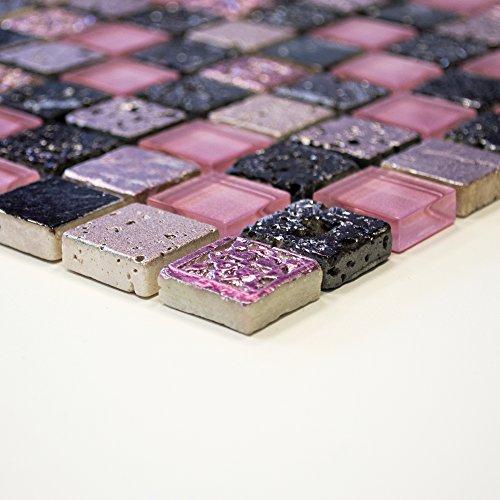 carrelage-mosaique-verre-mosaique-salle-de-bain-mosaique-carrelage-crystal-pierre-mix-rose-8-mm-neuf