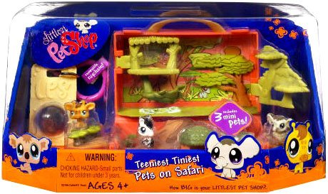 Buy Low Price Hasbro Littlest Pet Shop Teeniest Tiniest Mini Figure 3Pack Africa Safari (B002X9ZL9Q)