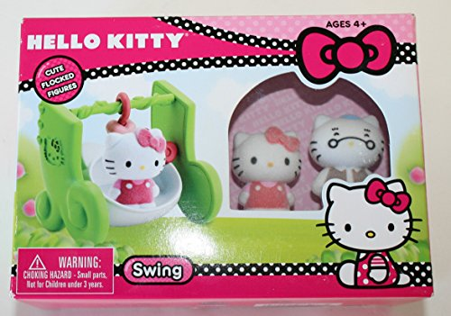 Hello Kitty Flocked Figures and Swing - 1