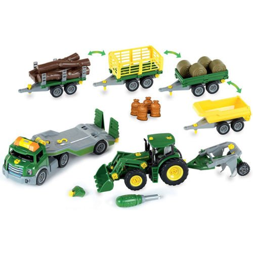 Theo-Klein-John-Deere-Multicolored-Plastic-Mega-Take-A-Part-Set-Transporter-Tractor-and-Much-More-For-Kids-Ages-3-and-Up