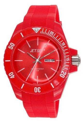 Jet Set J83491-24 - Reloj analógico de cuarzo unisex con correa de caucho, color rojo