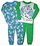 Disney Frozen Little Boys Olaf 4 Pc Cotton Pajama Set
