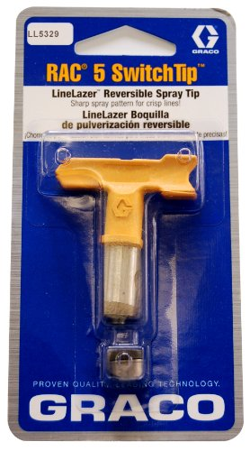 Graco #Ll5-329 Linelazer Rac 5 Switchtip - 0.029 Inches (Orifice Size) - For 4-6 Inch Line Widths - Paint Spray Tip - Ll5329