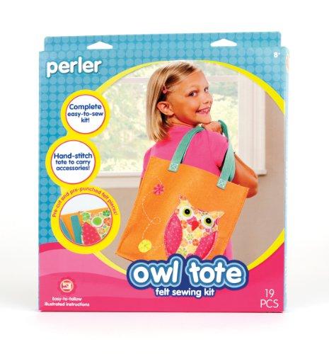 Perler Beads Perler Felt Sewing Kit, Owl Tote front-834011