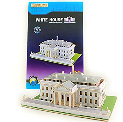 Coeus 3d Wooden Puzzle / DIY Model - World Architectures- White House -Educational Games for Kids / 3d Puzzles for Adults