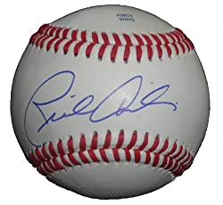 San Francisco Giants Rich Aurilia Autographed ROLB Baseball. Proof Photo