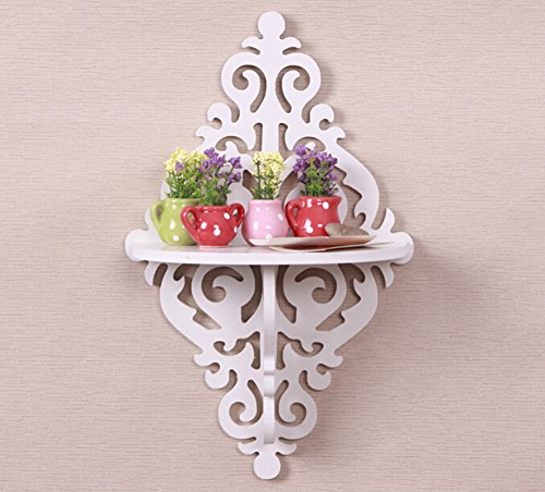 White Creative Wall Decoration Corner Shelf