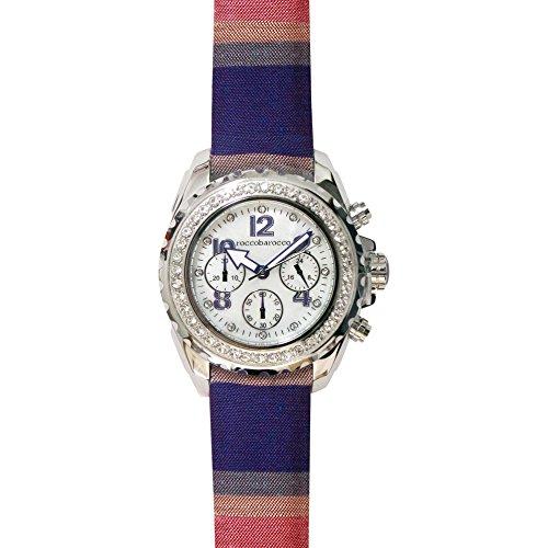 orologio cronografo unisex RoccoBarocco Rainbow trendy cod. RB0293