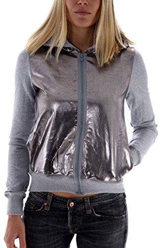 felpa-da-donna-grigio-metallizzato-fiorucci-taglia-xxs