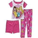 Disney Princess 3pc Short Sleeve Pajamas Set Little Girls' Toddler