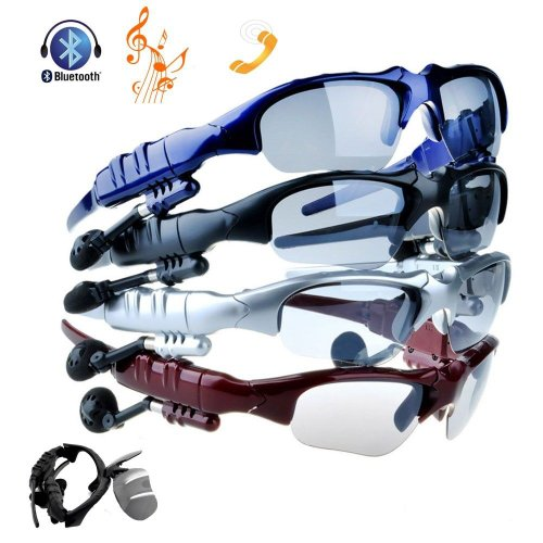 Victsing Bluetooth Headphone Sunglasses For Iphone 4 4S 5 5G Ipad 2 3 4 Ipad Mini With Ac Charger Hands-Free Black