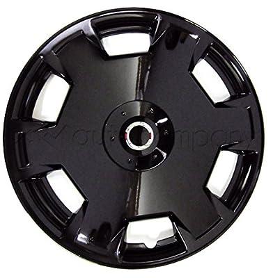 "Black 15"" Hub Caps Full Wheel Rim Covers w/Steel Clips (Set of 4) - KT-1017B-15"